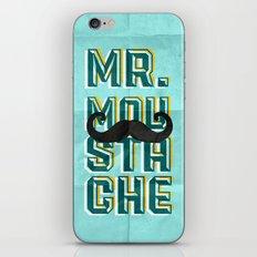 mr moustache iPhone & iPod Skin