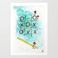 Tic Tac Toc Win Win! Art Print