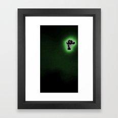 Shutter fly Moon Framed Art Print