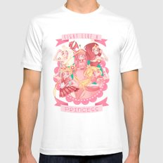 Fight Like A Princess! Mens Fitted Tee White SMALL