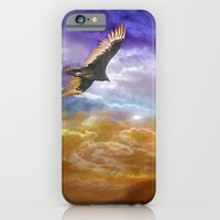 iPhone & iPod Case featuring Hawk and Moon by Heidi Fairwood