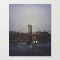 Manhattan Bridge of Whales Canvas Print
