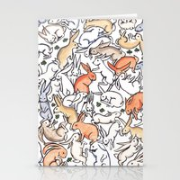 Colour Bunny Pattern Stationery Cards