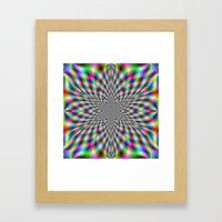 Neon Psychedelic Framed Art Print