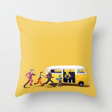 A Courtroom on the Verge of a Breakdown Throw Pillow