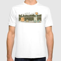 El plan White SMALL Mens Fitted Tee