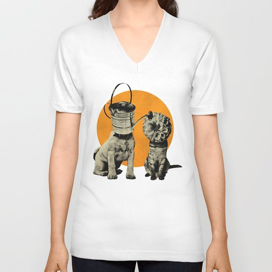 Cats&Dogs V-neck T-shirt
