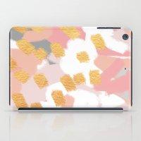 Neutral Golden Abstract iPad Case