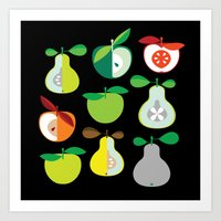Apples And Pears / Geome… Art Print