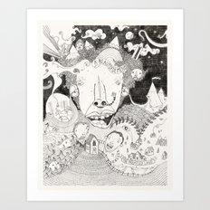 A Beautiful Mind (B&W) Art Print
