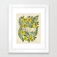 Killin' It – Tropical Yellow Framed Art Print
