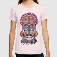 Dogon Womens Fitted Tee Light Pink SMALL