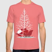 Happy Santa Mens Fitted Tee Pomegranate SMALL