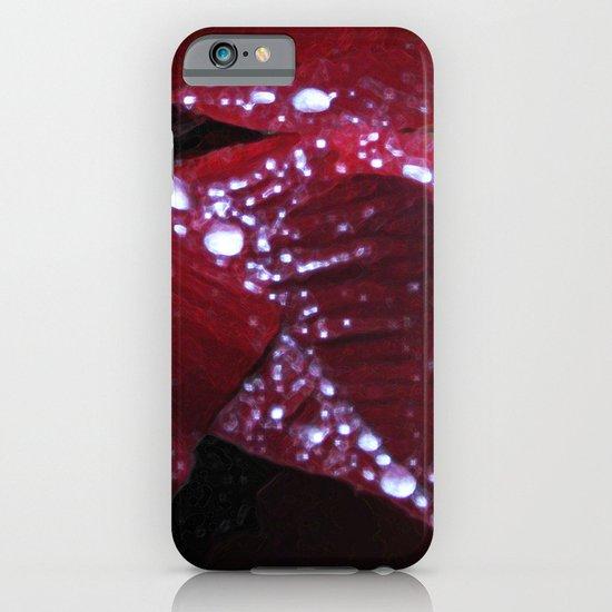 Diamonds on red velvet iPhone & iPod Case