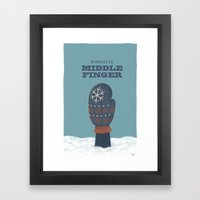 Minnesota Middle Finger Framed Art Print
