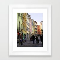 City Walking Lovers Framed Art Print