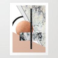 Art Print featuring Collage II ( Marble, Cop… by Marta Olga Klara