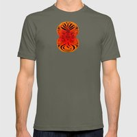 Red Fans and Faces Mens Fitted Tee Lieutenant SMALL