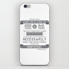 Good Things & Bad Things (gray) iPhone & iPod Skin
