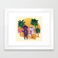 Miami Mice Framed Art Print