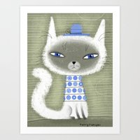 BLUE ADORNMENTS Art Print