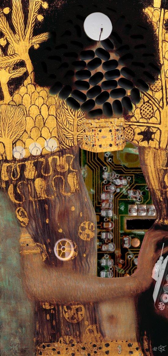 Klimt´s Judy Collage 2 Art Print