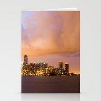 Miami Skyline Stationery Cards
