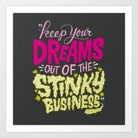 Stinky Business Art Print
