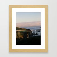 And then the fog rolled in.... Framed Art Print