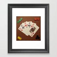 Poker De Reyes Framed Art Print