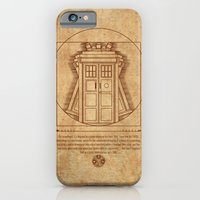 iPhone & iPod Case featuring Vitruvian Tardis by BomDesignz