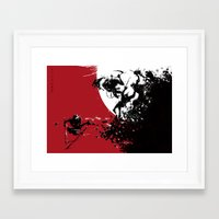 one versus many Framed Art Print