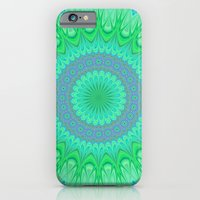 iPhone Cases featuring Crystal mandala by David Zydd