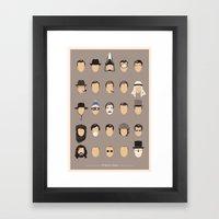 25 FACES OF JAMES Framed Art Print