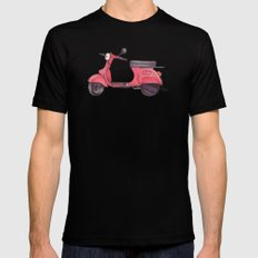 Vespa - ballpoint pen Mens Fitted Tee SMALL Black