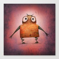 Funny Pink Undroid Canvas Print