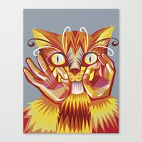 Cat Signs Whiskers Canvas Print