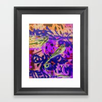 Turntables And A Mic (or… Framed Art Print