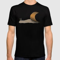 snail brown SMALL Mens Fitted Tee Black