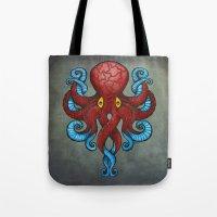 Red Dectopus Tote Bag
