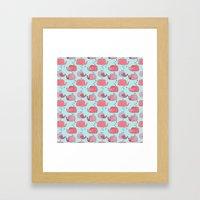 thousands of little pink wales Framed Art Print