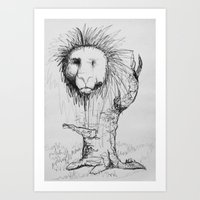 Lion Tree Art Print