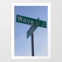 Wave Street Art Print