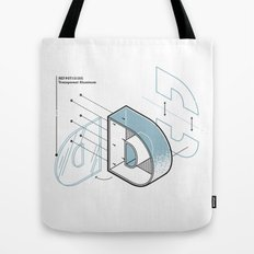 The Exploded Alphabet / D Tote Bag