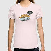 Not that Easy Womens Fitted Tee Light Pink SMALL