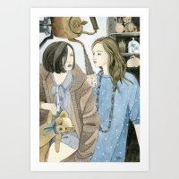 Just Between Us Girls Art Print