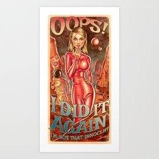 Oops!... I Did It Again - Britney Spears Art Print