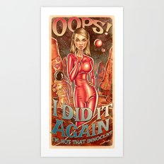 Oops!... I Did It Again - Britney Spears Art Print