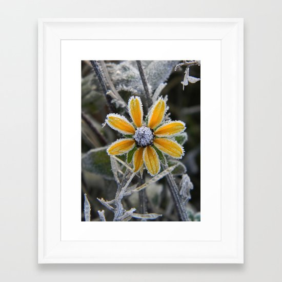 frozen smile Framed Art Print