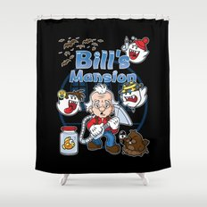 Bill's Mansion Shower Curtain